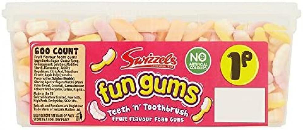 Swizzels Matlow Fun Gums Teeth n Toothbrush 600 count