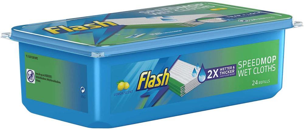Flash Speedmop Wet Cloth Refills Fast Easy and Hygienic Lemon Multi-Surface