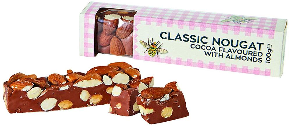 RHS Gourmet Candy Company Cocoa with Almonds Nougat 100g