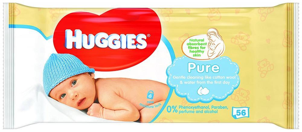 Huggies Pure Baby Wipes Pack of 56