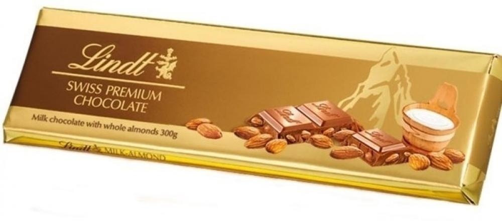 Lindt Swiss Premium Chocolate Almonds and Nougat 300g
