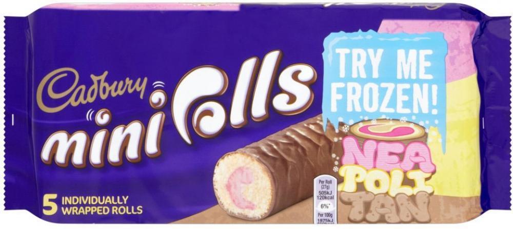 Cadbury Mini Rolls Neapolitan Mini Rolls 5 Pack