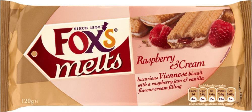 Foxs Melts Raspberry and Cream 120g