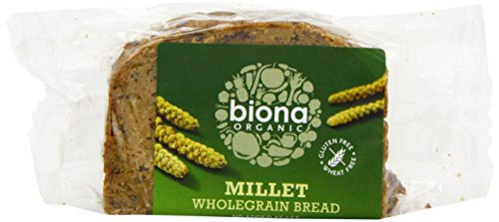 Biona Organic Gluten Free Millet Wholegrain Bread 250 g
