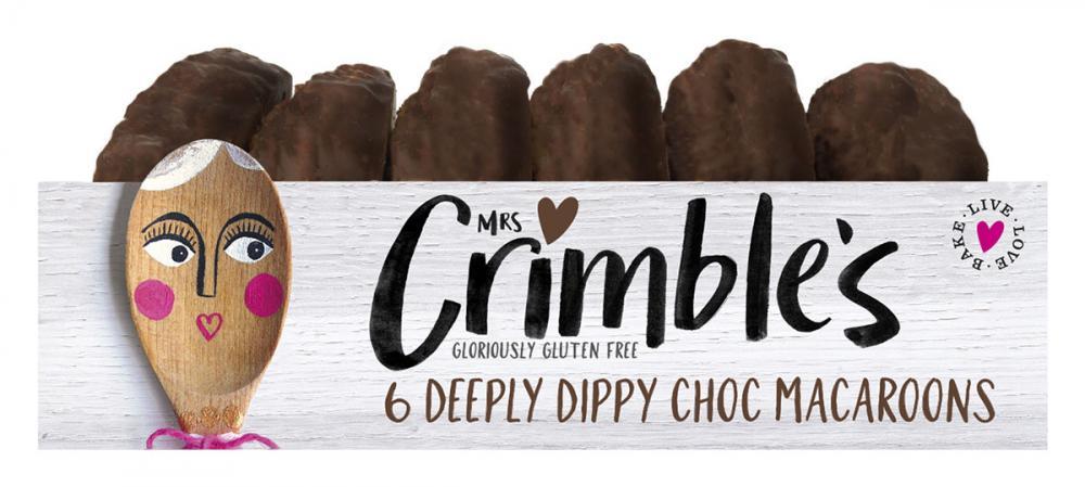 Mrs Crimbles 6 Deeply Dippy Choc Macaroons 240g