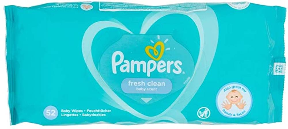 Pampers Fresh Clean Baby Wipes 52 wipes