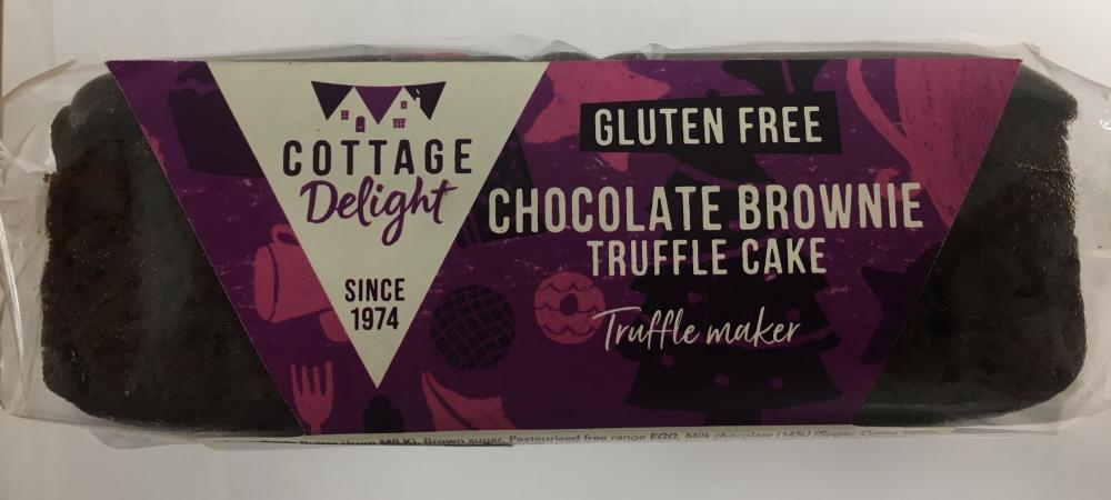 Cottage Delight Gluten Free Chocolate Brownie Truffle Cake