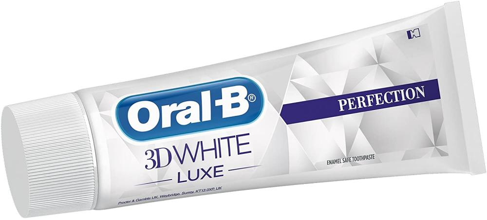 Oral-B 3D White Luxe Perfection Whitening Toothpaste for Stain Removal 75 ml