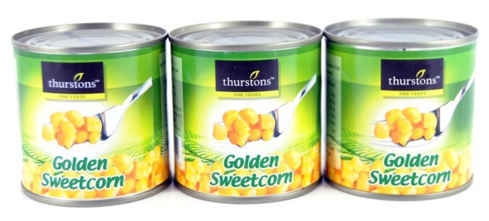Thurstons Golden Sweetcorn 3 x 184g