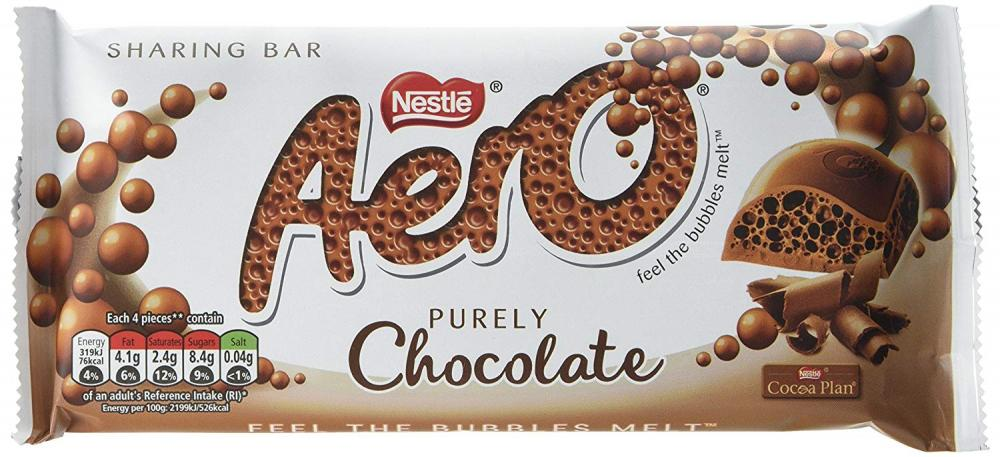 Aero Bubbly Milk Chocolate Bar 100g