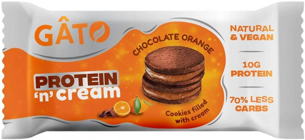 Gato Vegan Protein n Cream Cookies Protein and Vegan Snacks 2 x 50g
