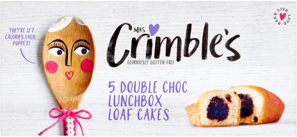 Mrs Crimbles 5 Double Choc Lunchbox Loaf Cakes 150g