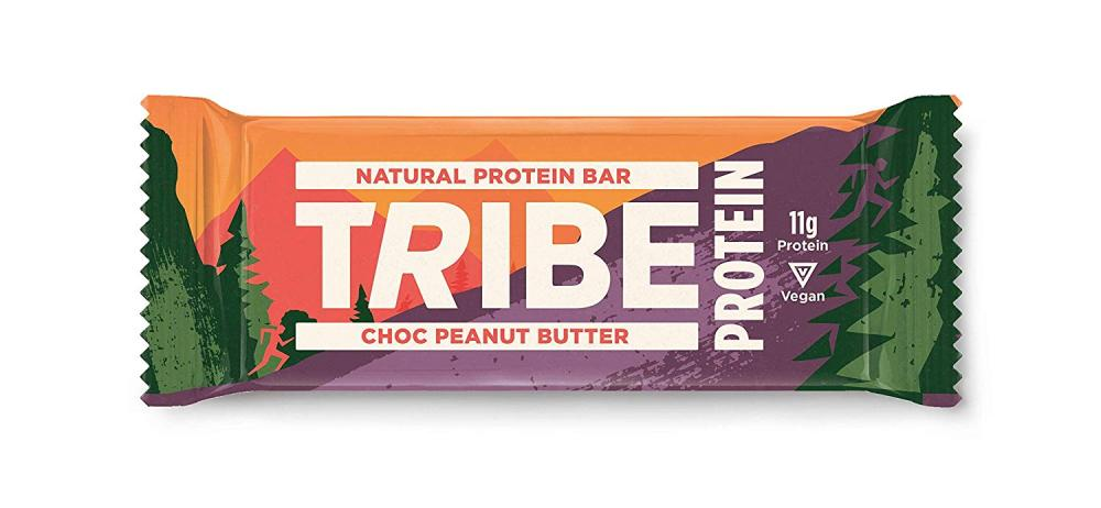 Tribe Nutrition Natural Vegan Protein Bar Chocolate Peanut Butter Flavour 50g