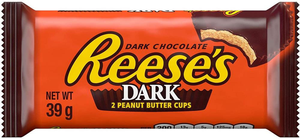 Reeses Peanut Butter Dark Chocolate Flavour Cups 39g