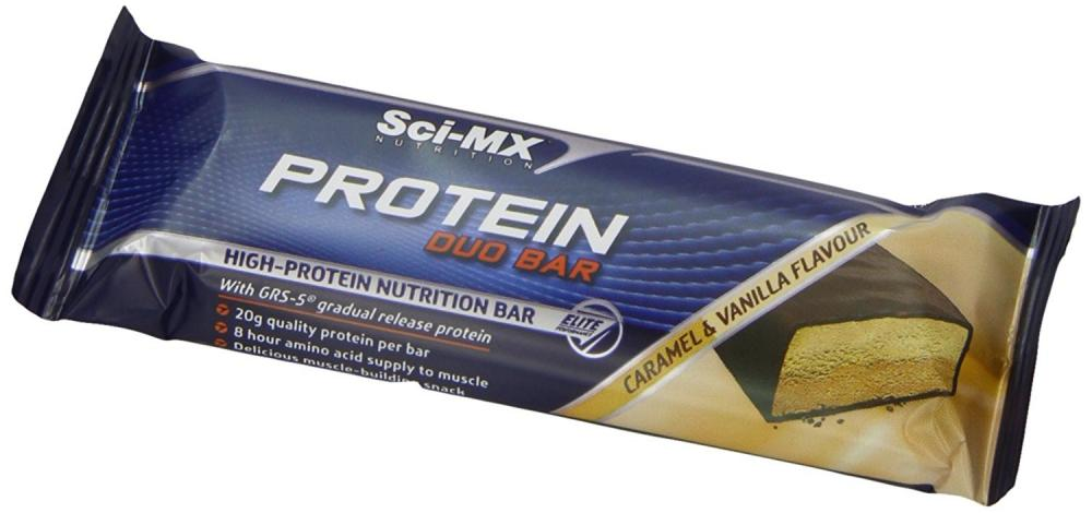 WEEKLY DEAL CASE PRICE  SCI-MX Nutrition Pro 2GO Duo Bars Caramel and Vanilla 12x60g