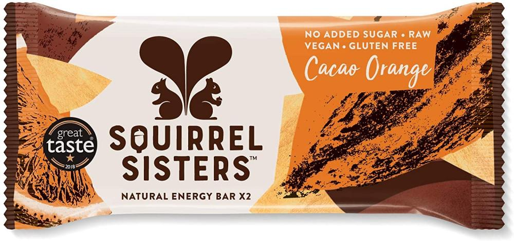 Squirrel Sisters Raw Snack Bars Cacao Orange 40g