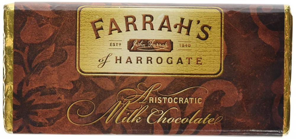 Farrahs Of Harrogate Luxury Milk Chocolate Bar 100g