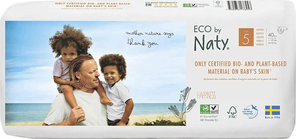 Naty By Nature Eco Nappies Size 5 11-25kg 40pcs