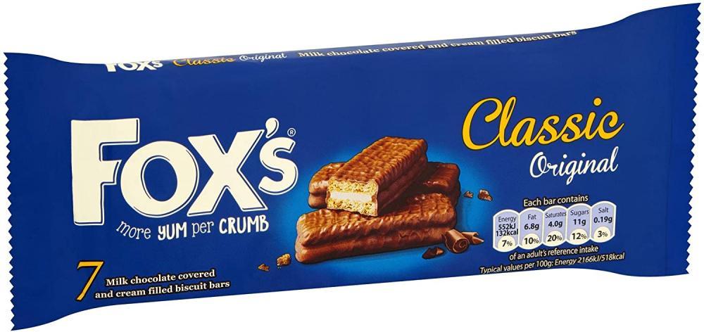 Foxs Classic Biscuits Bars 7 bars