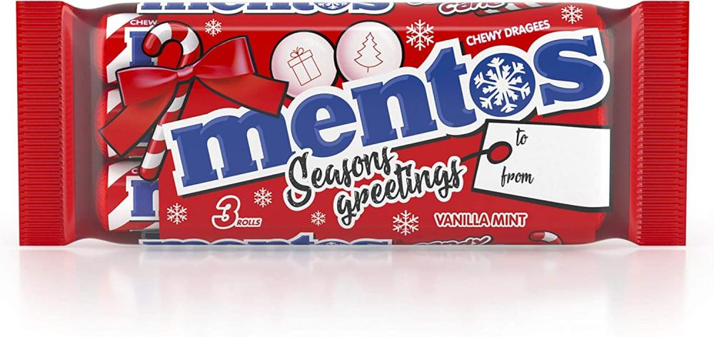 Mentos Chewy Vanilla Mint Candy Cane 3x38g