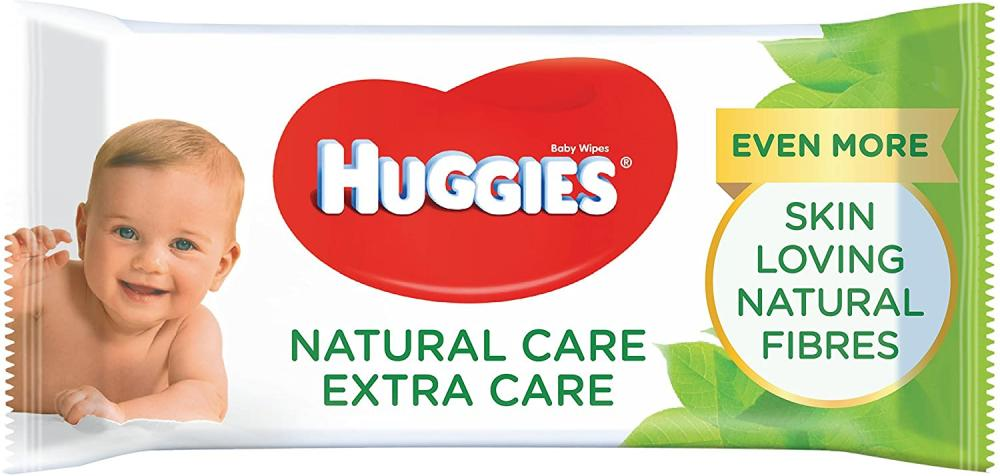 Huggies Natural Care Extra Care Skin Loving Baby Wipes 56 wipes
