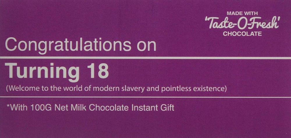 Bellaberry Turning 18 Milk Chocolate Bar 100g
