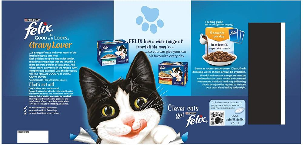 Felix As Good As It Looks Cat Food Gravy Lover Mixed LUCKY DIP 100 g
