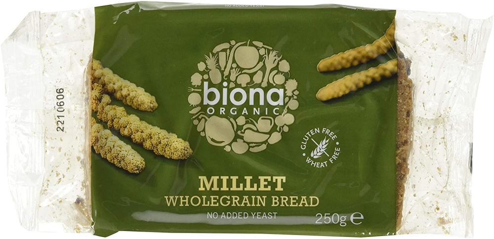 Biona Organic Gluten Free Millet Wholegrain Bread 250g