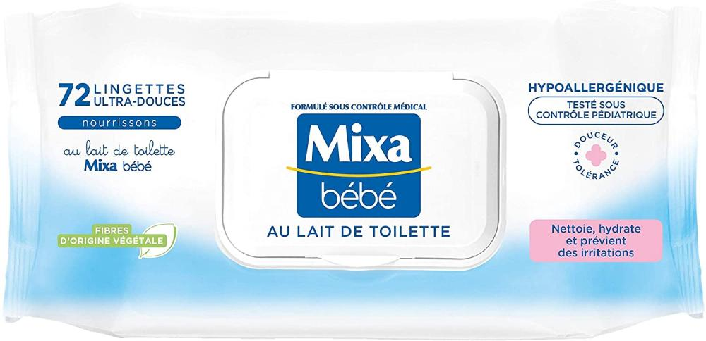 Mixa Bebe Wipes Pack of 72