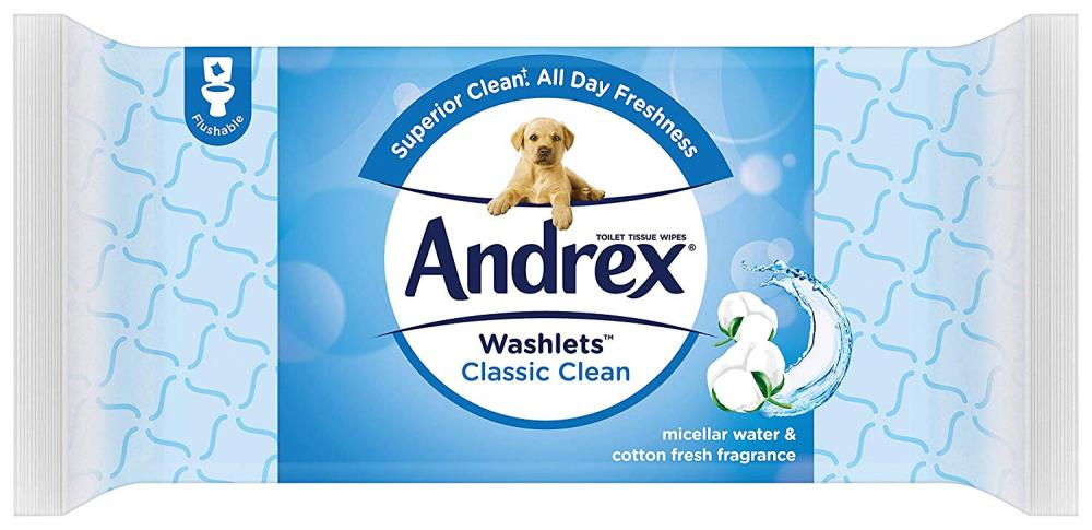 Andrex Washlets Classic Clean 40 Wipes