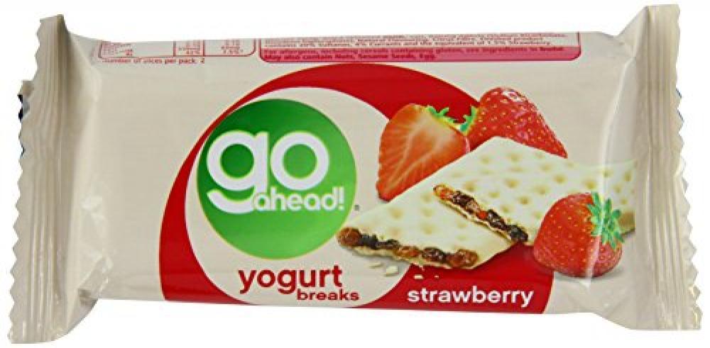McVities Go Ahead Strawberry Yogurt Breaks Twinpack 35g