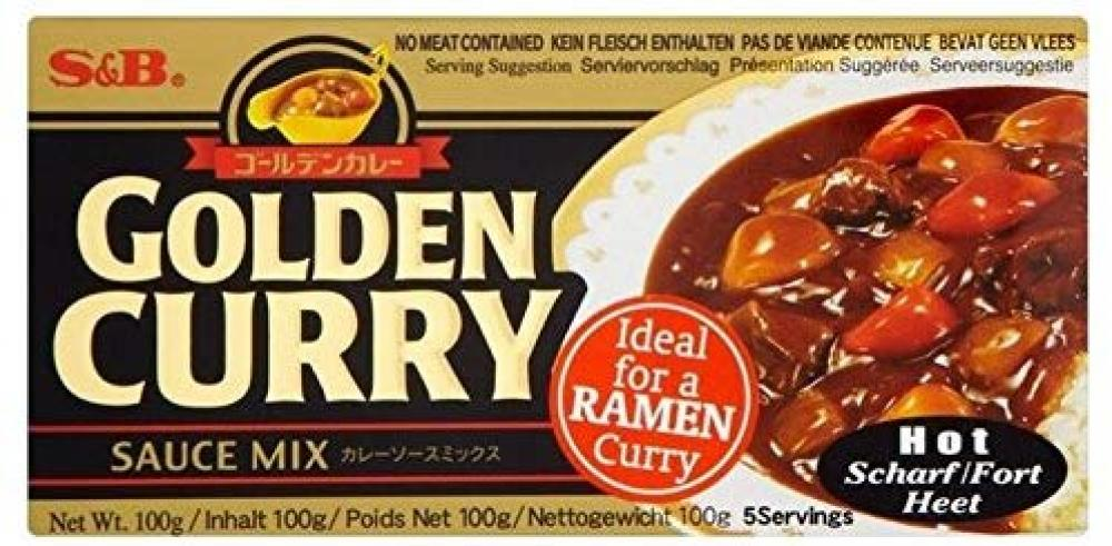 S and B Golden Curry Mix Hot 92g