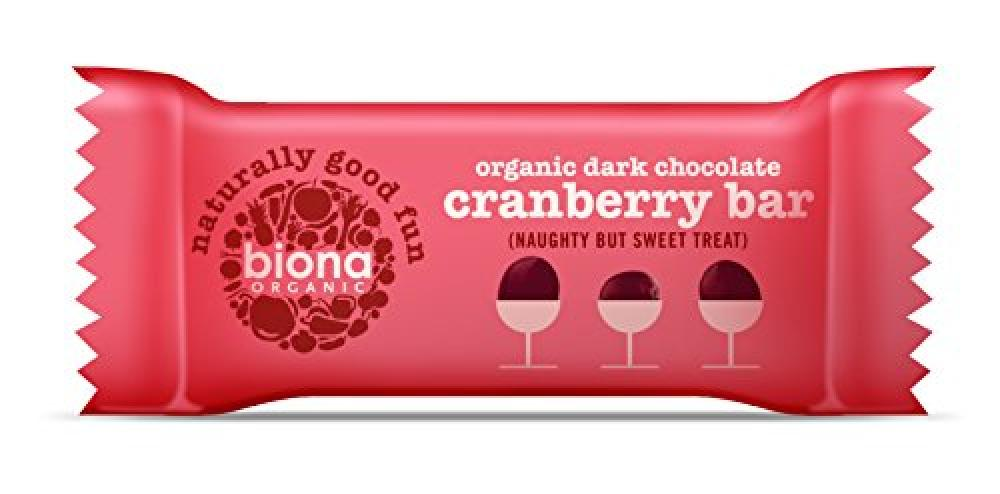Biona Organic Dark Chocolate Cranberry Bar 40g