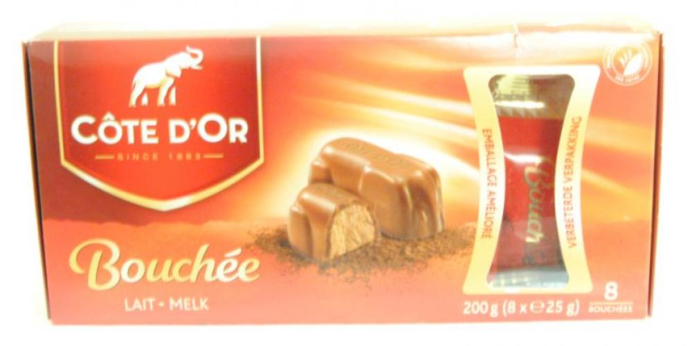 Clearance Cote D Or Bouchee Milk Praline Bars 8 X 25g
