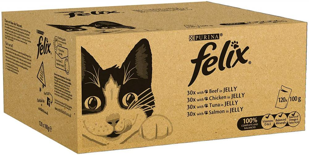 Felix Cat Food Mixed In Jelly LUCKY DIP 100g