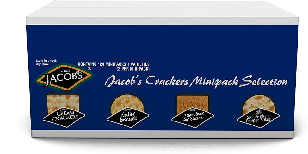 Jacobs Cheese Cracker Biscuits Mini Pack Selection Pack of 120