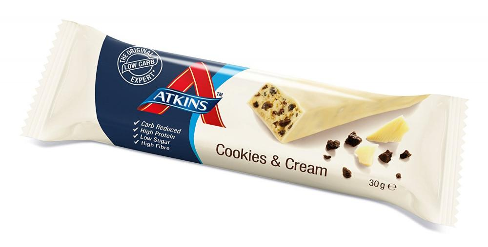 Atkins Cookies and Cream 30 g bar