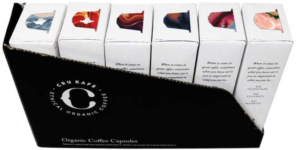 CRU Kafe Organic Discovery Pack Coffee Capsules 6x10 Capsules