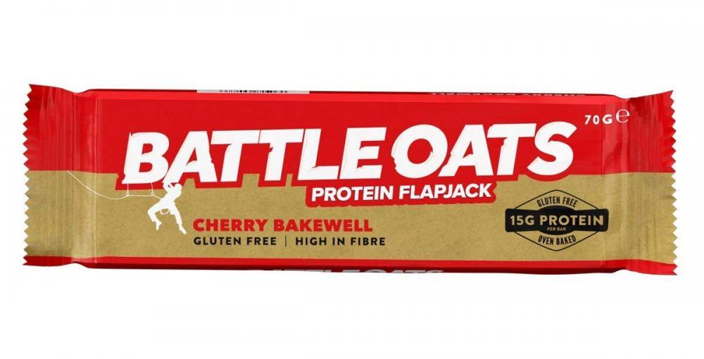 Battle Oats High Protein Gluten Free Flapjack - Cherry Bakewell 70g