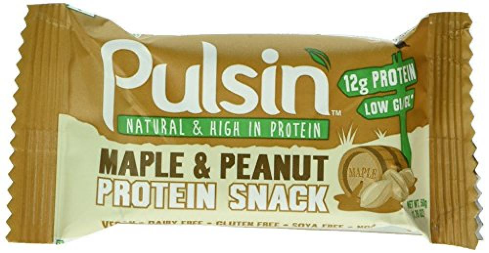 SALE  Pulsin Protein Snack - Maple and Peanut Bar 50 g