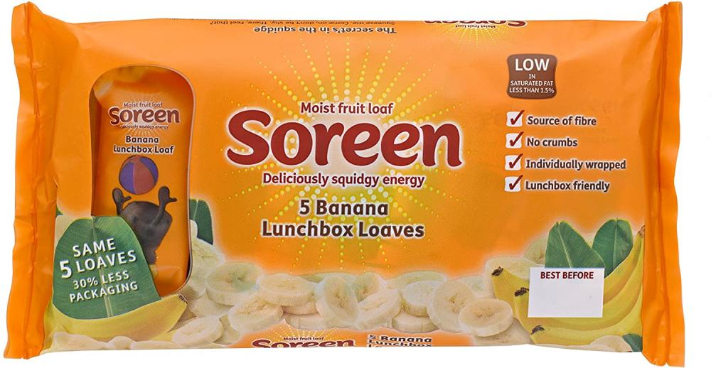 SALE  Soreen 5 Banana Lunchbox Loaves