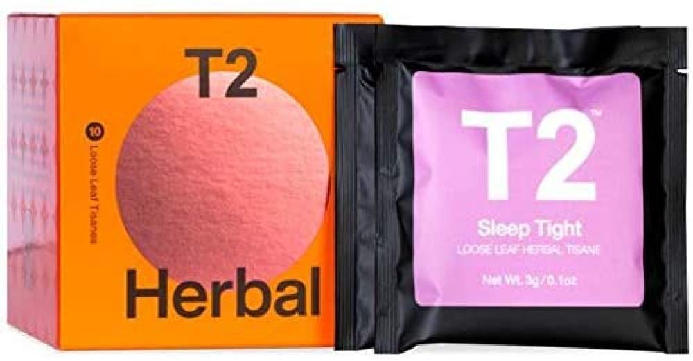 T2 Tea Tea Sips Herbal Tea Sampler Gift Pack 10 Loose Leaf Sachets