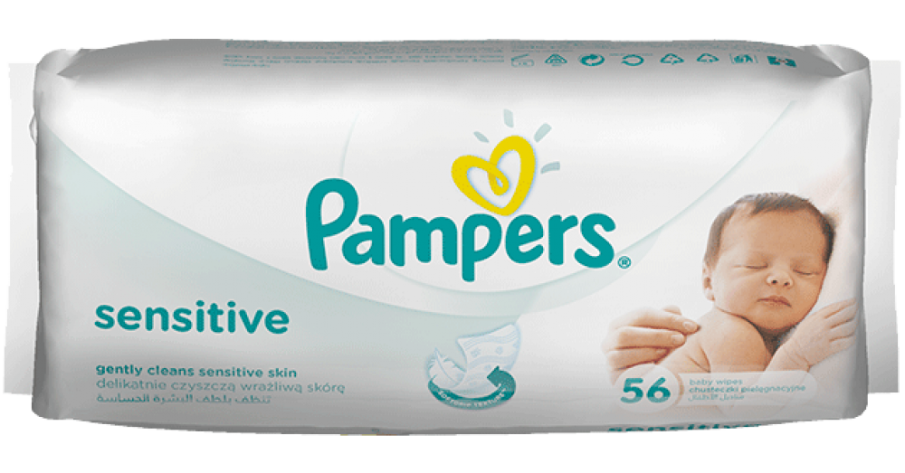 Pampers Sensitive 56 Wipes Approved Food