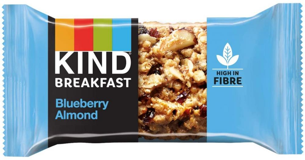 Kind Breakfast Cereal Bars Healthy Gluten Free Snacks Blueberry Almond 50g