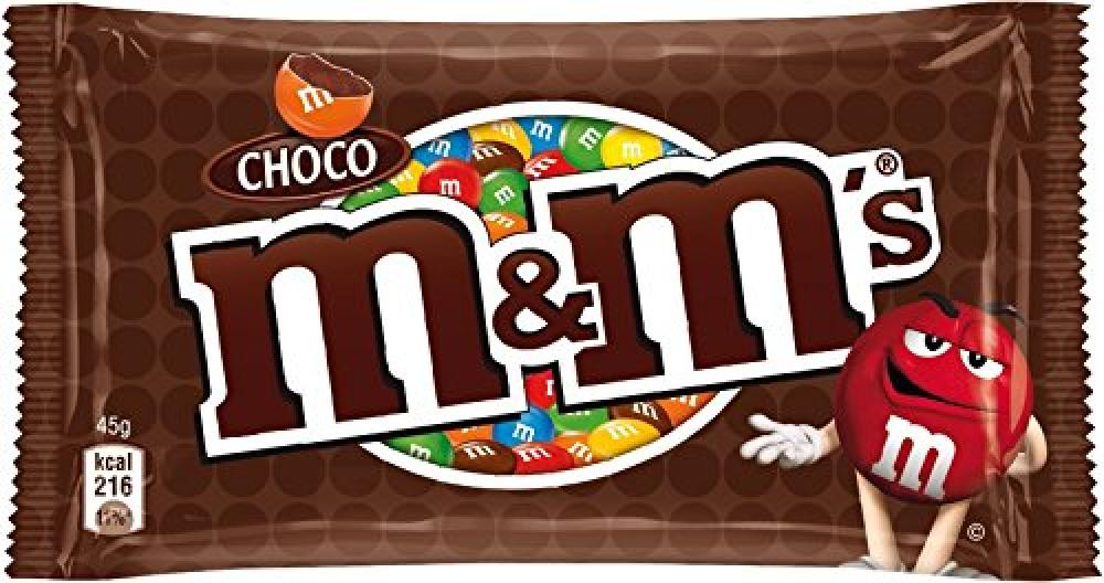 M and Ms Choco Single Chocolate Bag 45g