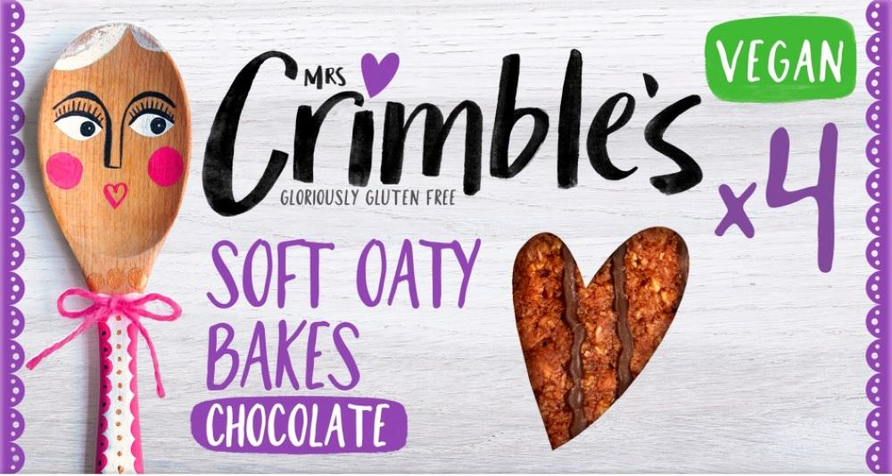 Mrs Crimbles 4 Soft Oaty Bakes With Chocolate 160g