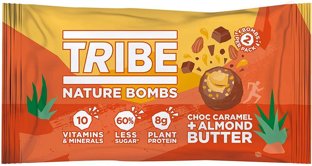Tribe Choc Caramel Almond Butter Vegan Protein Balls 40g