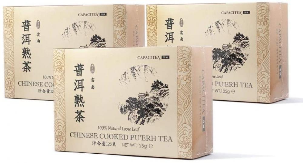 CAPACITEA Boxed Yunnan Loose Leaf Chinese Pu-er Pu-erh Tea