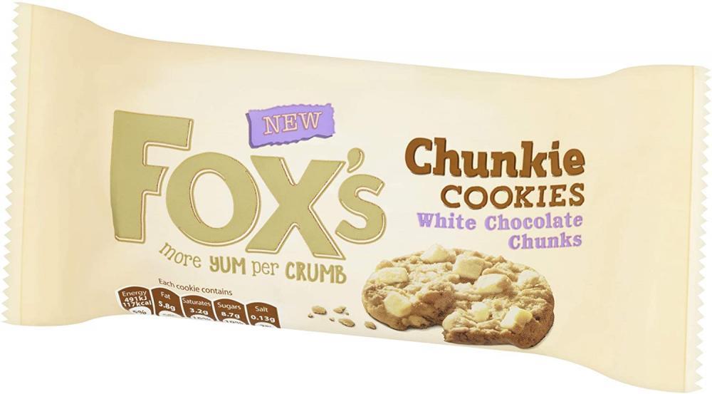 Foxs White Chocolate Chunkie Cookies 180 g