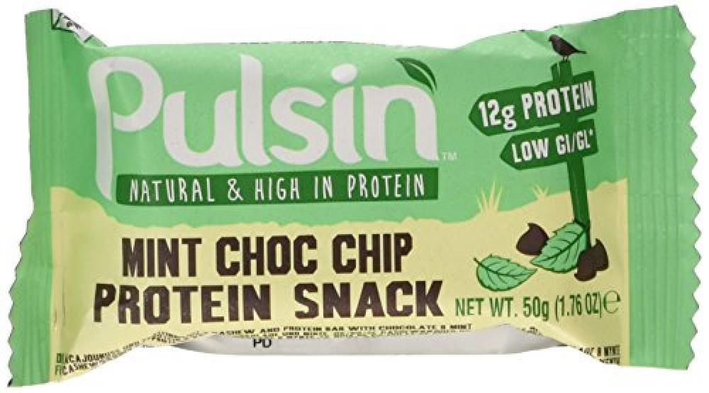 Pulsin Protein Snack Mint Choc Chip 50g